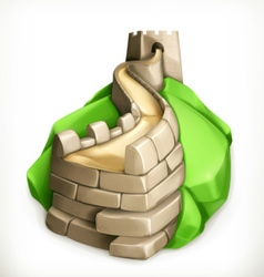 Great Wall of China icon vector image