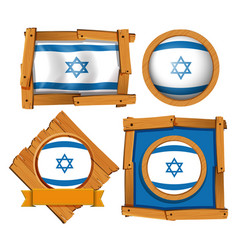 icon design for flag of israel vector image