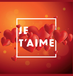 je taime background vector image vector image