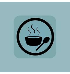 Pale blue hot soup sign vector image vector image