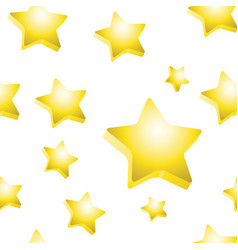 3d stars texture vector image