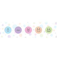 5 bra icons vector