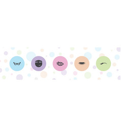 5 eye icons vector
