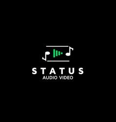 A logo design template for audio video vector