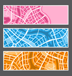 abstract city map banners vector image
