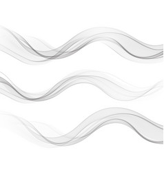 Abstract flowing wave lines isolated vector