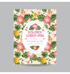 Baby Arrival or Shower Card in Floral Design vector