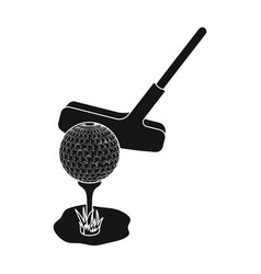 ball and putter for golfgolf club single icon in vector image
