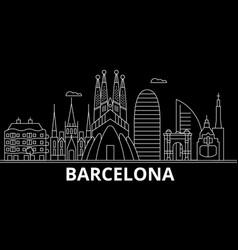 barcelona silhouette skyline spain - barcelona vector image