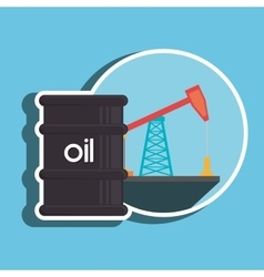 barrel of petroleum isolated icon design vector image