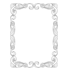 black ribbon frame isolated on white vector image