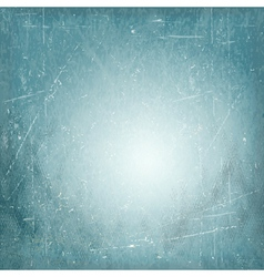 Blue scratched vintage vignette background vector image