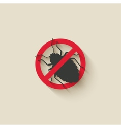 bug warning sign vector image vector image