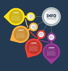 business presentation concept with four options vector image