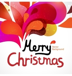 Colorful christmas card vector image
