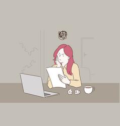 Creative crisis burnout concept vector