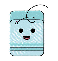 dental floss kawaii character vector image
