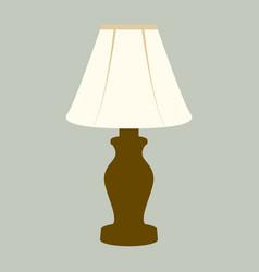 desk lamp vintage flat vector image