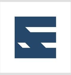ef fe initials geometric letter company logo vector image