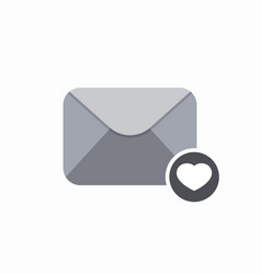 email heart like love message icon vector image