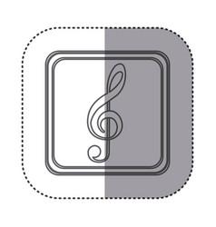 Figure symbol music sign icon vector