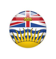 Flag british columbia button vector