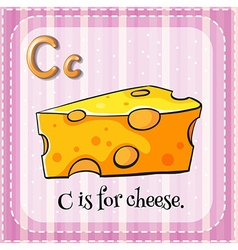 Flashcard letter C is for cheese vector image