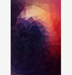 Flat background of geometric shapes retro vector
