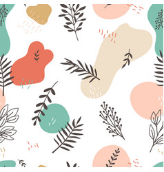 floral branches pattern vector image