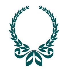 Foliate laurel wreath with a decorative ribbon vector