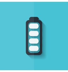 Full battery icon Accumulator Flat design vector image