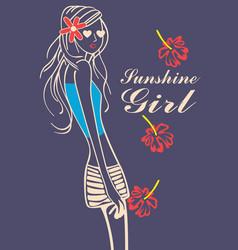 Funshine girl vector