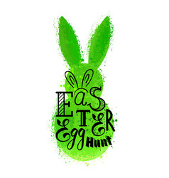 grunge green bunny vector image