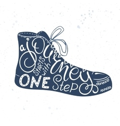 Hand drawn lettering quote - a journey vector