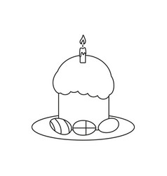Happy easter an egg icon holiday vector
