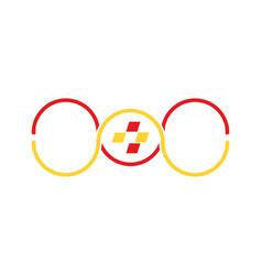 infinity digital logo vector image