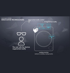 innovative technologies in the washing machine vector image