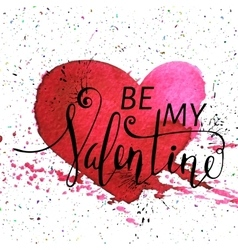 Inscription Be my Valentine vector