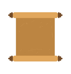 isolated old parchment icon vector image