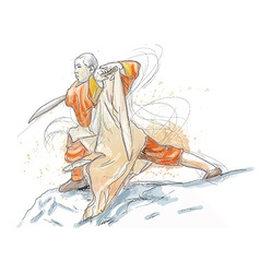 Kung fu - an hand drawn vector