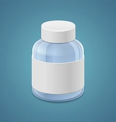 Large jar for drugs vector