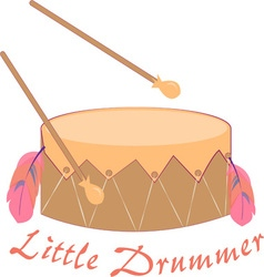 Little drummer vector