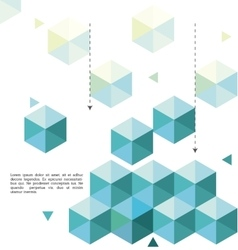 Low Poly background design vector