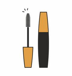 mascara for eyelashes icon vector image