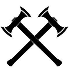 medieval battle axe vector image