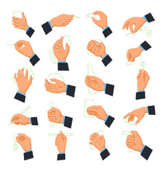 mens hand icons vector image