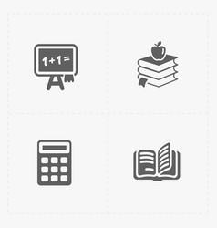 Modern flat social icons set on white vector