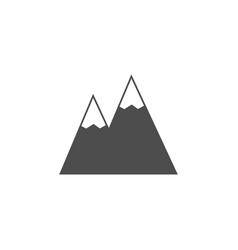 Mountains solid icon navigation and travel sign vector