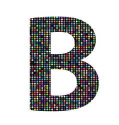 Multicolor letter B vector