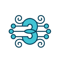 number 3 sign vector image